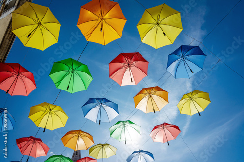 City of Gap - Hautes Alpes - Colourful umbrella city decoration #298699197