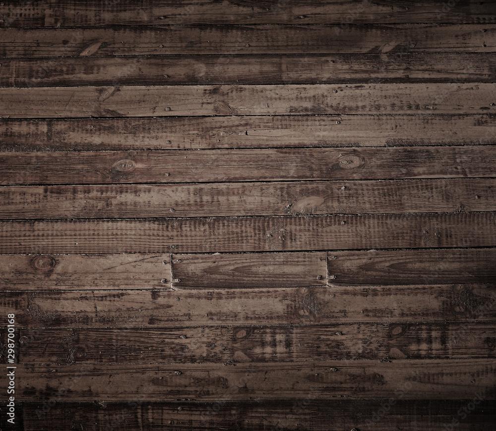 Fototapety, obrazy: brown wood planks.