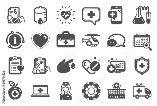 Medical rx icons Wallpaper Mural