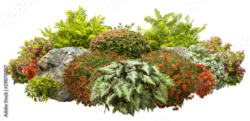 Canvas Print Cut out garden design