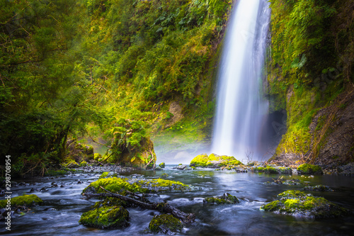 Canvas Prints Forest river Cascadas de Tocoihue, Chiloe Island, Chile - Tocoihue: the Biggest Waterfall on the Island of Chiloé, Chile