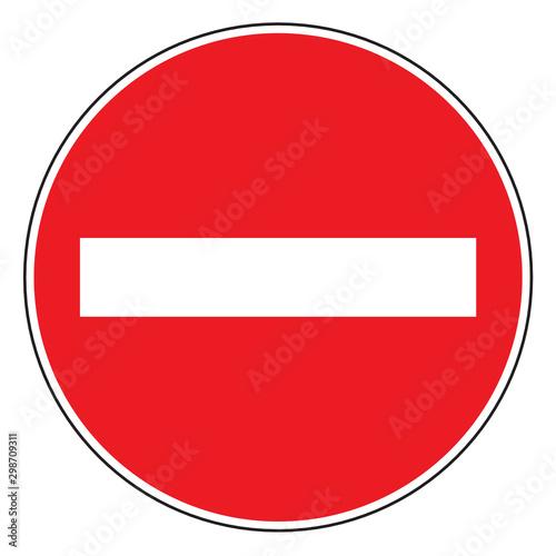 Fotografía  Do not enter traffic sign blank vector