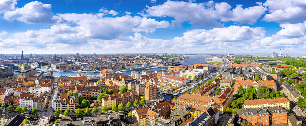 Fototapety, obrazy: panoramic view at the city center of copenhagen