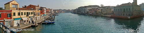 Aluminium Prints Venice Panorama with water boats canal and traditional buildings in Murano, Italy