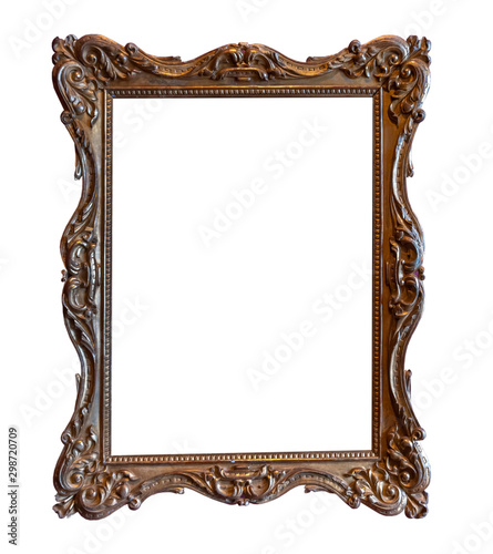 Antique photo picture frame isolated on white background Fototapete