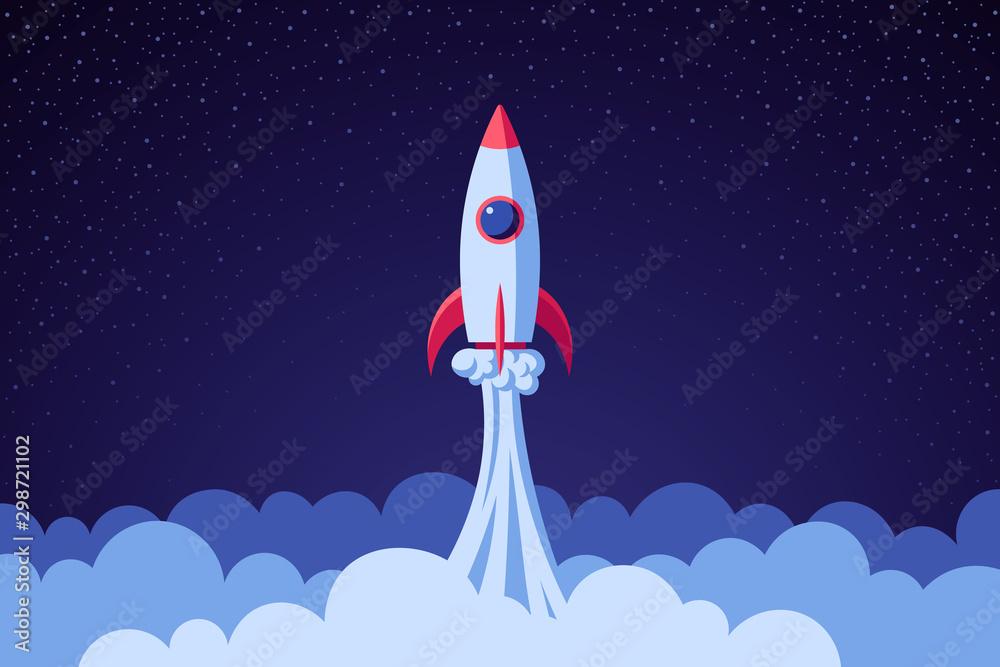 Fototapety, obrazy: Rocket in space