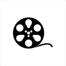Film Reel Icon, Cinema Movie Reel Icon