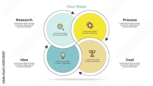 Cuadros en Lienzo Business infographics