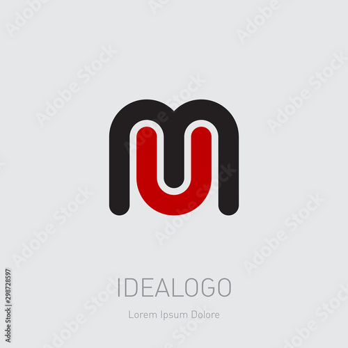 M and U initials, logo Canvas Print
