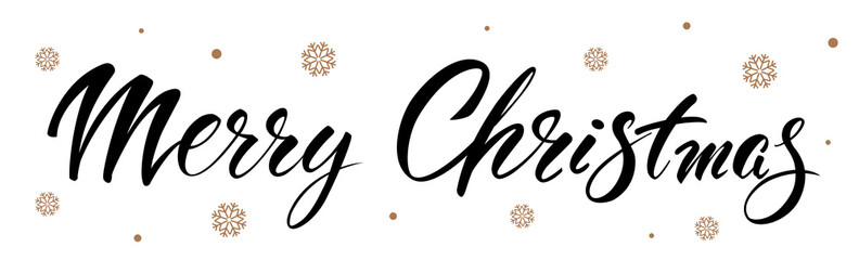 Merry Christmas. Vector text Calligraphic Lettering design card template. Creative typography for Holiday Greeting Gift Poster. Calligraphy Font style Banner.