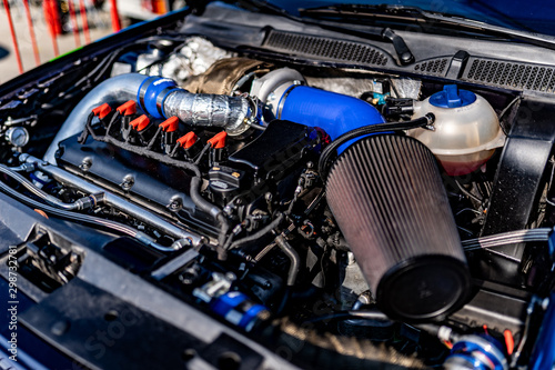 Fotomural Performance sports car engine bay