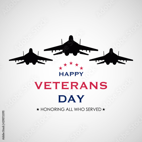 Vector illustration of American veterans day Canvas-taulu