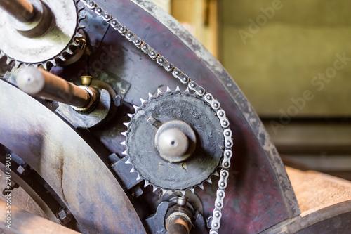 roue dentée et chaine Canvas-taulu