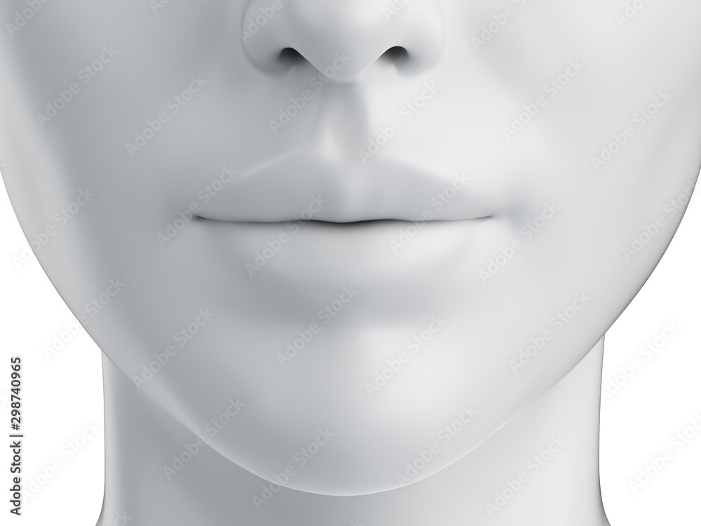 Fototapety, obrazy: 3d rendered medically accurate illustration of a grey abstract female mouth