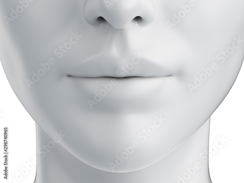 Fotomural  3d rendered medically accurate illustration of a grey abstract female mouth