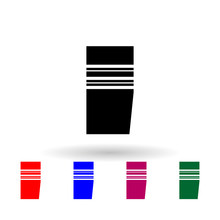 French Lieutenant Colonel Military Ranks And Insignia Multi Color Icon. Simple Glyph, Flat Vector Of Ranks In The French Icons For Ui And Ux, Website Or Mobile Application