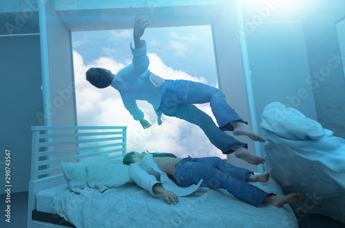 Photo Soul leaving the body upon death