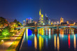 Frankfurt am Main at night, Germany