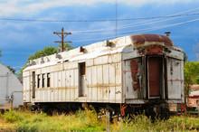 An Old Neglected Rail Car Sitt...