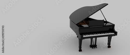 Fotografia Extremely detailed and realistic 3d illustration of a Piano.