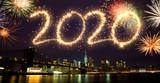 Fototapeta Nowy Jork - 2020 Fireworks over New York