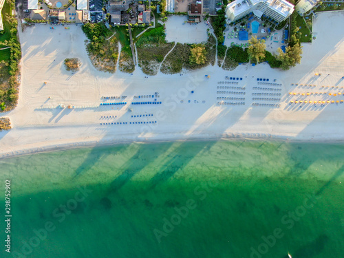 Aerial view of St Pete beach and resorts in St Petersburg, Florida USA Wallpaper Mural