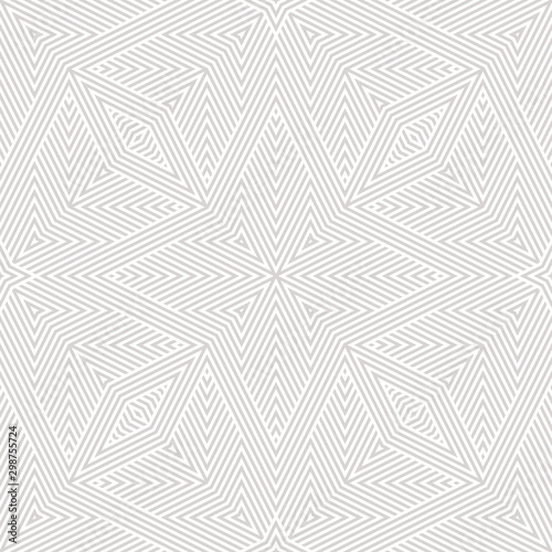 Poster Artificiel Subtle vector white and light gray geometric lines. Abstract seamless pattern