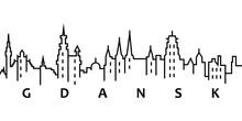 Gdansk Cityscape Illustration....