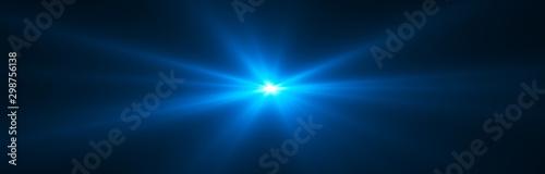 Obraz Glowing light effect. Starburst. Beautiful abstract rays background. - fototapety do salonu
