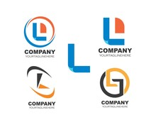 L Letter  Illustration Logo Ve...