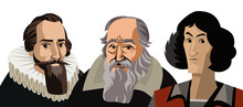 Three Great Scientist Astronomers Portraits