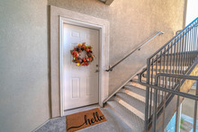 Apartment Front Door With Welc...