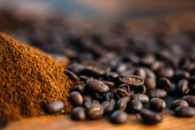 Coffee Beans With Cocoa Powder...