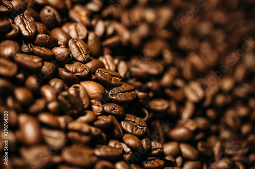 Canvas Prints Cafe coffee beans in large quantities with motion blur
