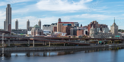 Panaroma of Albany downtown Fototapet