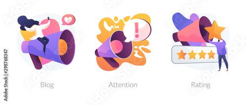 Stampa su Tela Promotion methods icons set