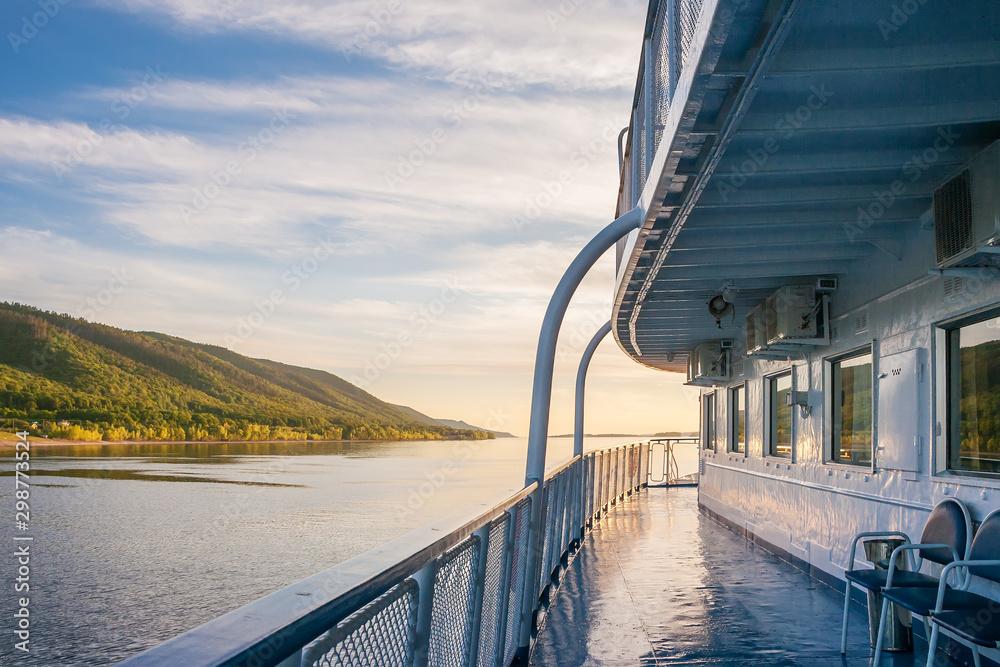 Fototapety, obrazy: Ship cruise on the Volga River