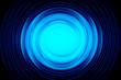 canvas print picture - Sound wave blue color