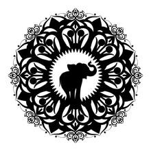 Mandala With Elephant