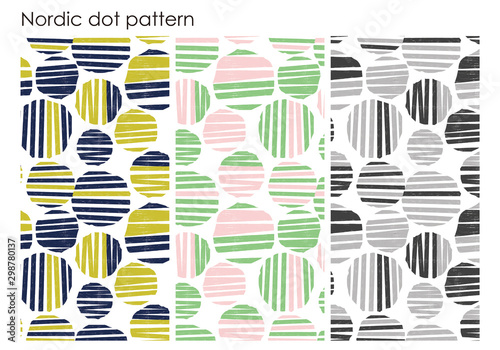 Photo Nordic dot seemless pattern