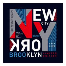 New York Brooklyn - Vector Ill...