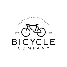 Simple Minimalist Bike / Bicycle Logo Design Inspiration