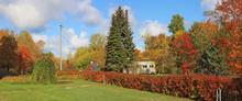 Autumn Rural October Sunny Day...