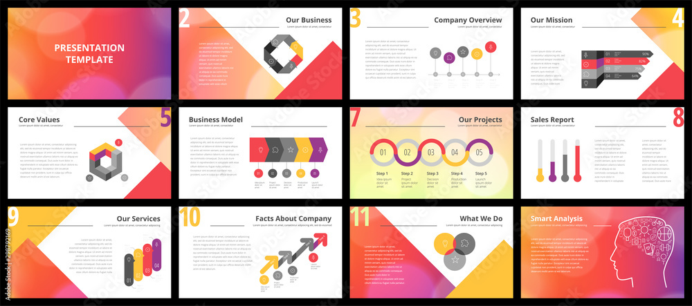 Fototapety, obrazy: Business presentation templates