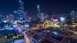 Ho Chi Minh city nightscape timelapse video