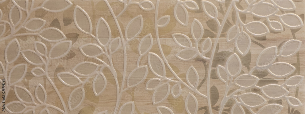 Fototapeta abstract marble tiled floral pattern