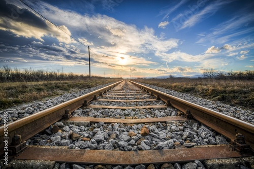 Fotografie, Obraz railway in mountains
