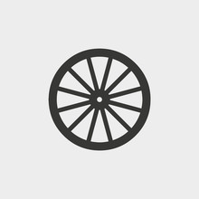 Wooden Wheel Icon. Vector Illu...