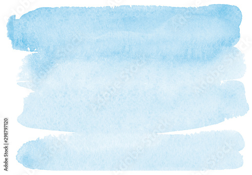 Fotografía  light romantic delicate blue background painted with watercolor on white paper