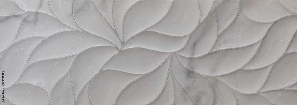 Fototapety, obrazy: lines of abstract geometric pattern of marble tile